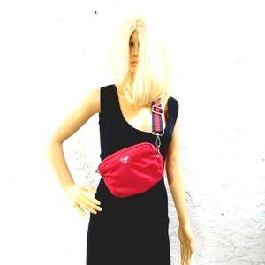 PRADA Authentic unisex nylon Tessuto red  pouch bag